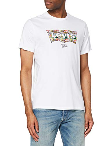 Levi's Housemark Graphic tee Camiseta, White (Ssnl Hm Fish Fill White), Large para Hombre