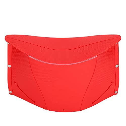 CHICIRIS Taburete Plegable portátil, Equipo de Taburete de Pesca de fácil Uso, Bolsa de Almacenamiento lo Suficientemente Fuerte para Pescar, Acampar, Viajar(Red)