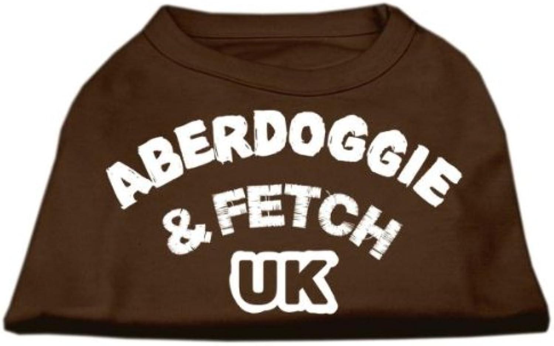 Mirage Pet Products 14Inch Aberdoggie UK Screenprint Shirts, Large, Brown