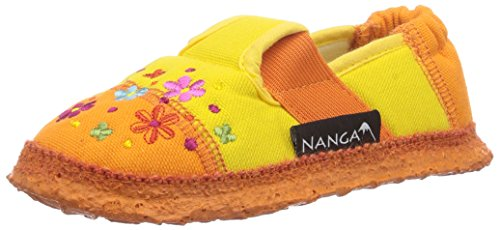 Nanga Blümchen Low-Top Slippers Girls', Yellow (Gelb), 4 UK Child