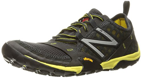 New Balance Men's Minimus 10 V1 Trail Running Shoe, Grey/Yellow, 7.5