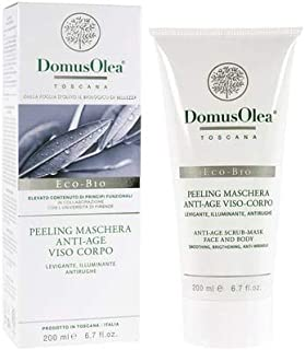 DOMUS OLEA TOSCANA - Anti-Age Peeling Mask for Face and Body - Deep and Gentle Exfoliation - Illuminates the Complexion - Antioxidant - With Apricot Granules - Certified Icea & Nickel Tested - 200 ml