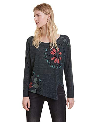 Desigual T-Shirt Alanis Camiseta, Verde (Cactus 4029), XL para Mujer