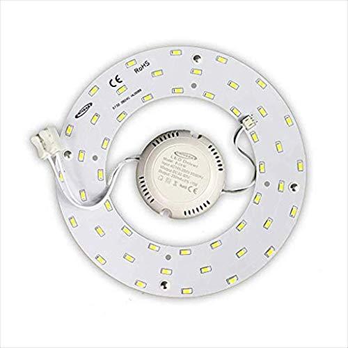 Circolina Ricambio LED per Plafoniere Neon con Magnete 2400Lm 24W Luce Fredda 6500K 72 LED 220V diametro 23 cm