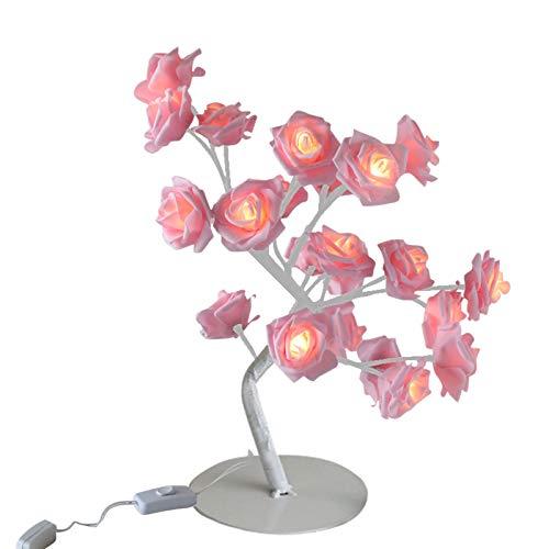 Hunpta Rose Table Lamp LED Tree Branch Desk Lights Gift for Wedding Party Home Decor