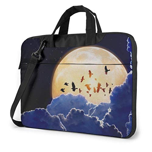 Laptop Shoulder Bag Carrying Laptop Case, Mid-Autumn Full Moon Computer Sleeve Cover, Business Briefcase Protective Bag