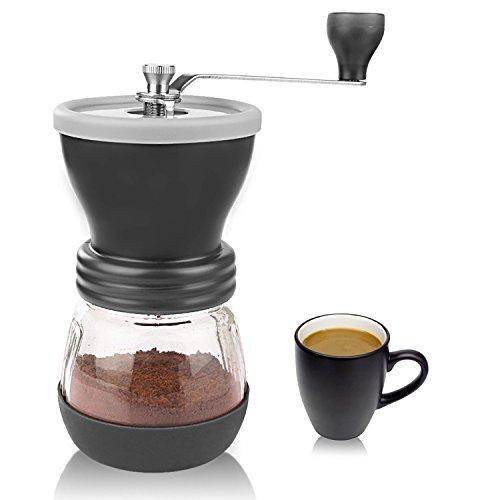 Macina Caffè Manuale, Aidodo Ceramica Regolabile Macina Caffè (100g capacità) per Pepe e Chicchi