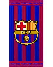 Fc Barcelona Toalla, 100% Algodón, Azulgrana 70 x 140 cm