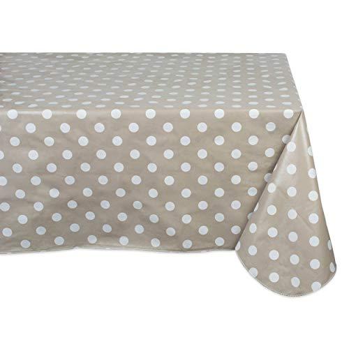 Mantel de vinilo impermeable a prueba de derrames, perfecto para todas las estaciones, interior, picnics al aire libre, fiestas...