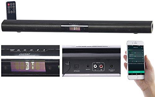 auvisio Alexa Lautsprecher: Aktive WLAN-Multiroom-Soundbar, Bluetooth, komp. zu Amazon Alexa, 80 W (WLAN Multiroom Lautsprecher)
