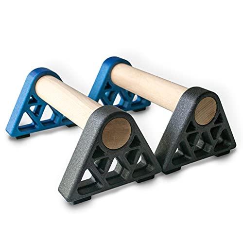 Paralelas de soporte para flexiones con mango de madera antideslizantes Calistenia