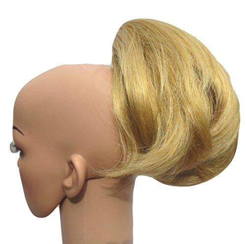 354 VANESSA GREY Toutes les couleurs disponibles, Petite Pince Extension De Cheveux Agréable À Porter Pour Queue De Cheval, Blond Doré