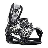 Flow Youth Mountain Snowboard Winter Comfort Fit Micron Fusion Bindings, Black, Medium