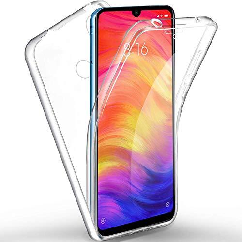Happy 1st Funda para Xiaomi Redmi Note 7, 360 Grados Full Body Carcasa Protector Transparente - Doble Cara TPU Silicona + PC Dura Resistente Anti-Arañazos Protectora Case Cover