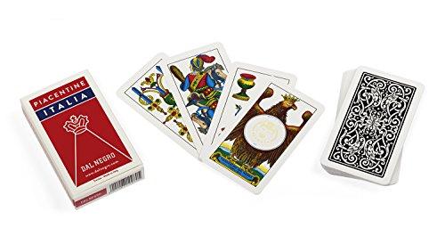 Dal Negro 10070–Regionale Piacentine Italien Spielkarten, Etui rot