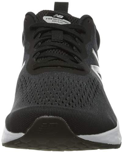 New Balance Men's Fresh Foam Arishi V3 Running Shoes, Black Black White, 9 UK