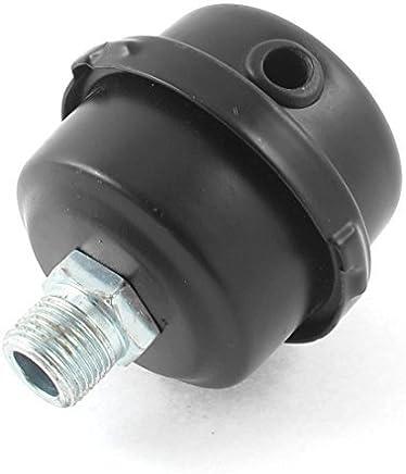 eDealMax Metal Compresor de aire Filtro Para la entrada del silenciador Silenciador 3 / 8BSP 16mm