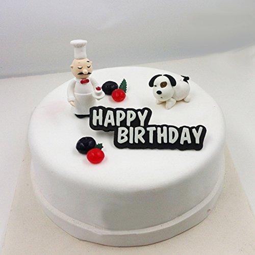 Bluelover Happy Birthday En Silicone 3D Fondant Gâteau Chocolat Décoration Moule Moule Gâteau D'Anniversaire