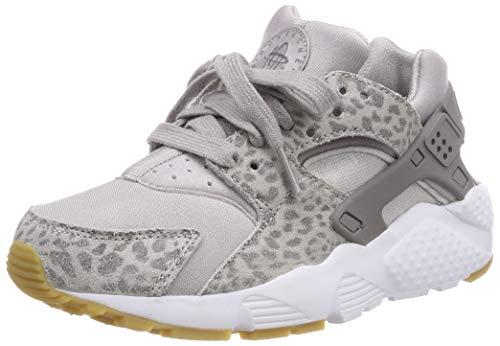 Nike Huarache Run Se Girls Shoe Size 5, Color: Atmosphere Grey/Gunsmoke