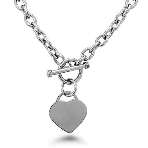 Personalizzato Collana Tag Incisione cuore dell'acciaio inossidabile