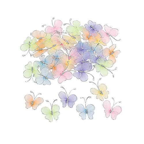 Nylon Butterflies (36Pc) - Crafts for Kids and Fun Home Activities