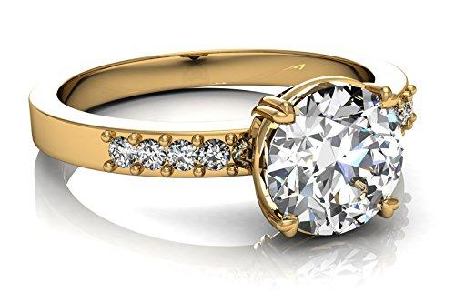 Ring aus 18kt Gold, mit 11Diamanten G-VS1, GIA-Zertifikat, Gewicht 1,55kt, erhältlich in den Größen 7 bis 27