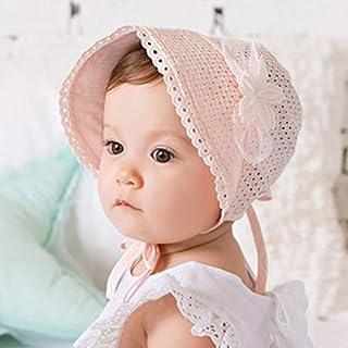 JJSPP New Baby Girl Hat Lace Flower Hollow Bucket Baby Cap Outdoor Beach Baby Summer Hat Children Kids Hat (Color : B)