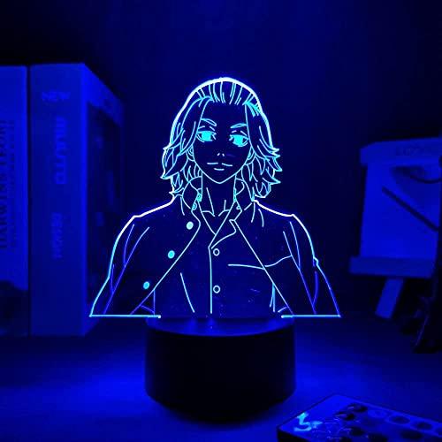 GMYXSW Manga 3D luz LED lámpara para dormitorio infantil decoración noche luz cumpleaños regalo-remoto
