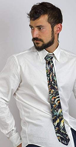 Corbata diseño abstracto, Moda masculina atrevida, Regalo para el hom