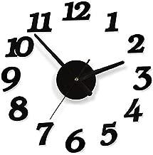 ساعة حائط بلاستيك بدون منبه ، انالوج/رقمي - بطارية AA