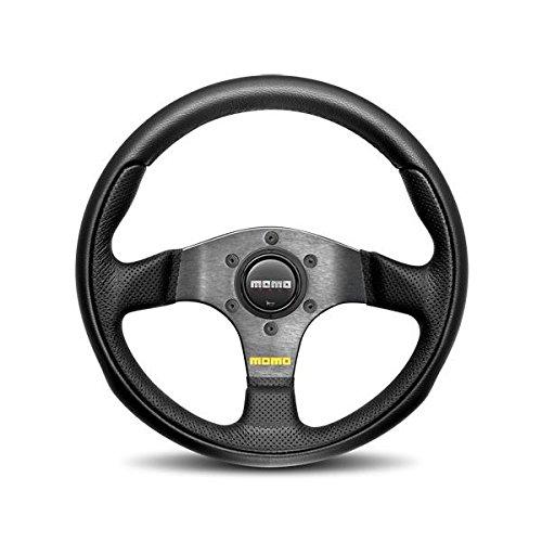 Momo TEA30BK0B Team 300 mm Leather Steering Wheel,Black