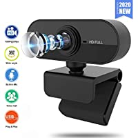 Qaxlry 1080P HD Auto Focus Webcam with Microphone