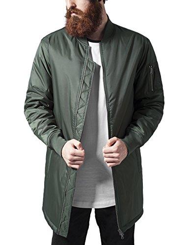 Urban Classics Long Bomber Jacket Giacca, Verde (Olive 176), L Uomo