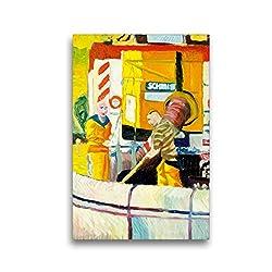 Premium Textil-Leinwand 30 x 45 cm Hoch-Format Zwei Männer von den Stadtwerken Mainz | Wandbild, HD-Bild auf Keilrahmen, Fertigbild auf hochwertigem Vlies, Leinwanddruck von Margarita Siebke