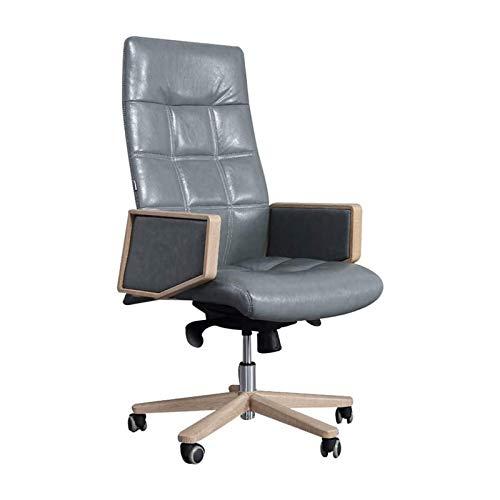 HMBB Sillas de escritorio, silla de oficina, silla de cuero Boss silla de moda silla de oficina reclinable gran clase moda nórdico 360 grados giratorio ajustable