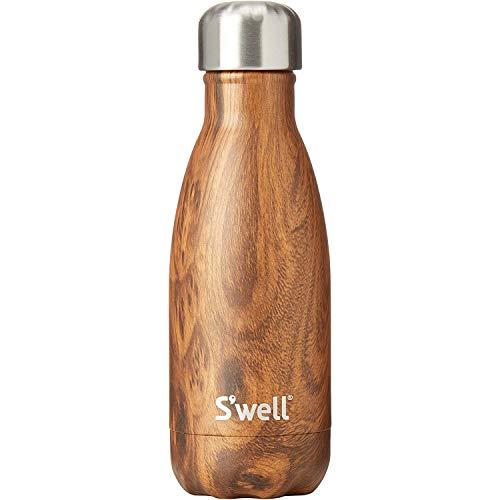 Swell Teakwood Botella Termo, Madera, Marrón, 5x5x19 cm