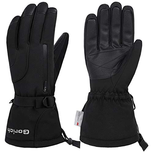 Ski Gloves,Waterproof Mens Womens Ski Gloves,Winter Warm 3M Thinsulate Snow Gloves Snowboard Gloves Snowmobile Gloves