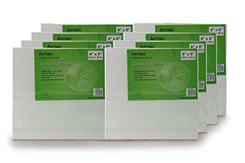 ArtGeo 3mm Canvas Panel Leinwandbrett 8er Packung