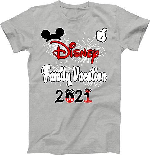 Family 2021 Mickey Minnie Family Vacation Shirts Matching Disney T-Shirts Custom Shirts Men's Women's Youth T-Shirts (Grey)