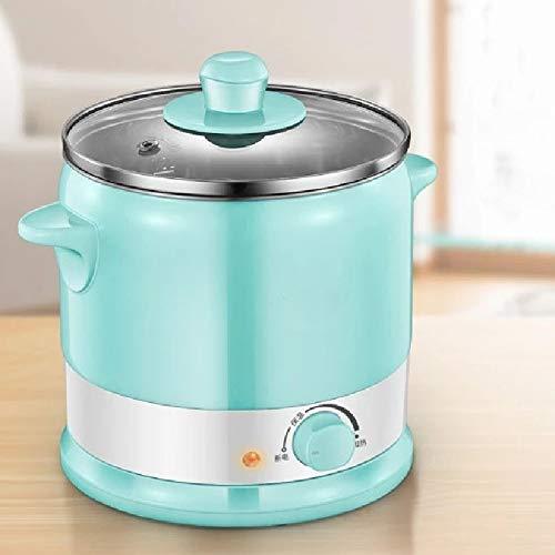 Électrique Marmite Cuisinière électrique multifonctionnel cuire les nouilles Ragoût en acier inoxydable Pot Cuisine multicuiseur Dortoir électrique Rice Cooker 220V (Couleur: Bleu, Type de fiche: AU)