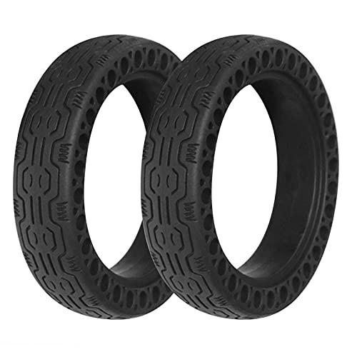 JAJU Neumáticos para Scooter eléctrico, Repuesto de neumáticos sólidos sin cámara de Panal de Abeja de 8,5 Pulgadas, Compatible con Scooter eléctrico M365, 2 Piezas