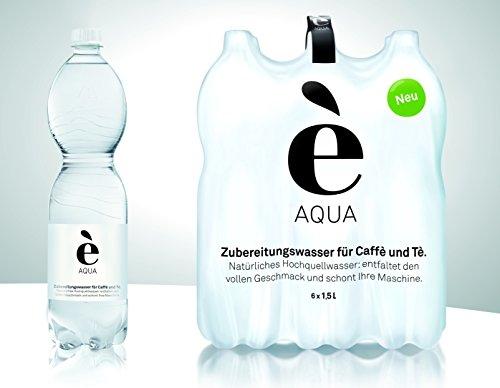 è Aqua - extra weiches Quellwasser für die Zubereitung von Kaffee und Tee: - ideal für Ihre Maschine - kein Filter oder verkalken - Doppel-SIXPACK 12x1,5l, Preis inkl. € 3,-- Pfand*