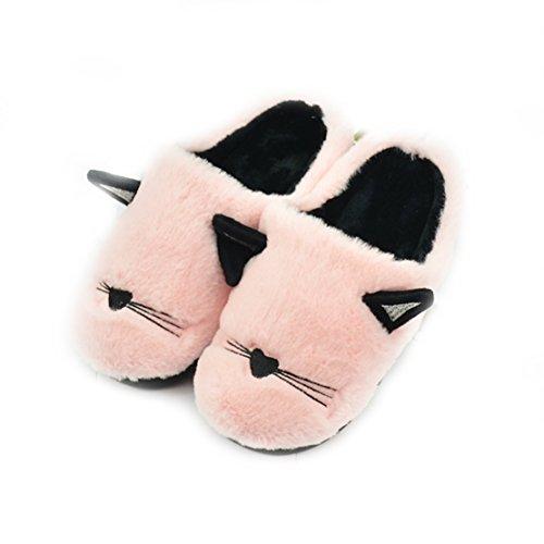 zhenghewyh Morbido Inverno Schiuma Vello Casa Pantofole per Uomini Donna Bambini (35/36 EU), Rosa