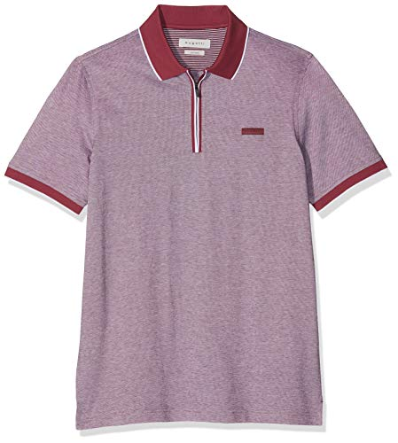 Bugatti Herren 8150-35101 Poloshirt, Pink (Fuchsia 780), Small