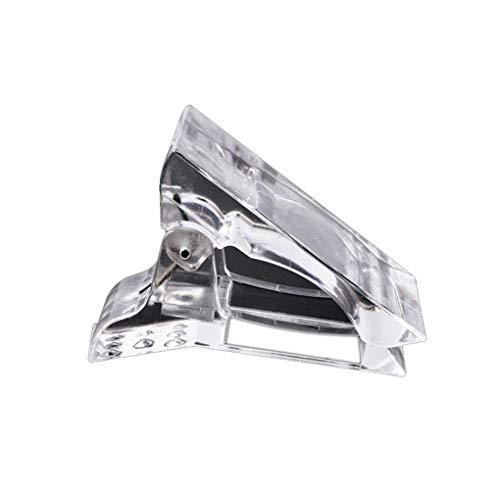 zhibeisai 5Pcs / Set Nagel-Spitzen Clip Schnell Gebäude Poly UV Builder Gel-Assistent Werkzeug DIY Maniküre Kunststoff Verlängerungs Clamp