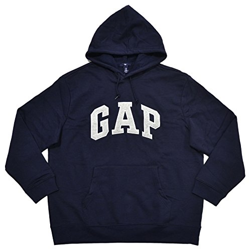 Gap Sudadera con capucha para hombre con logotipo de forro polar, Azul marino,...