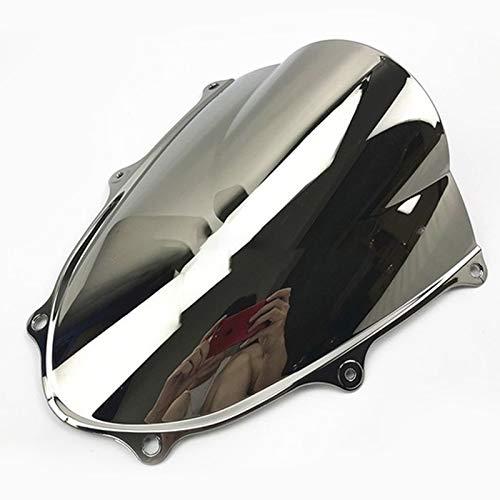 sicura Parabrezza del parabrezza del motociclo per GSX-R1000 17-18 GSXR1000 GSXR 1000 K17 2017 2018 17 18 Parabrezza agility (Color : Chrome)