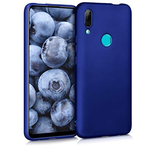 kwmobile Funda Compatible con Huawei P Smart Z - Carcasa móvil de Silicona - Protector Trasero en Azul Metalizado