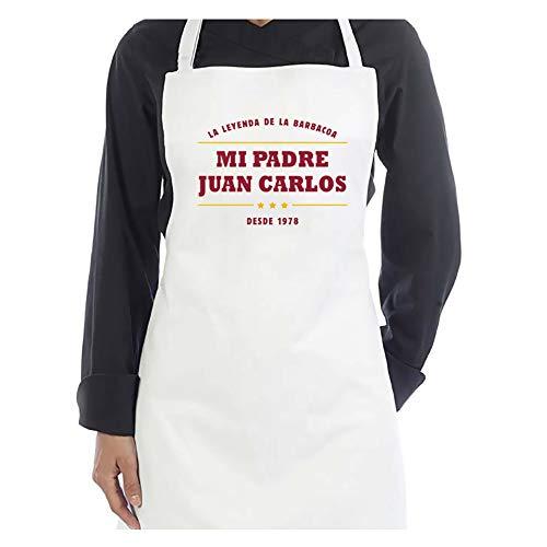 Delantal Personalizado con año y Nombre Especial día del Padre 'Leyenda de Las BBQ'