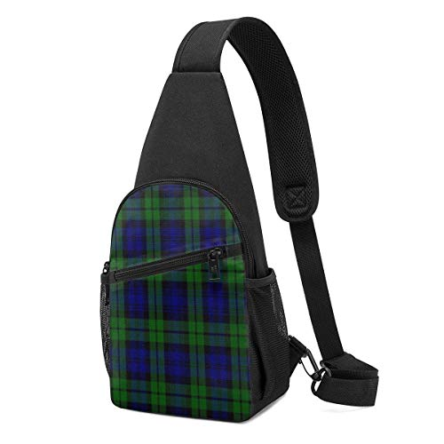 XCNGG Scottish Campbell Tartan Pattern Chest Backpack Chest Pack Ultra Lightweight Backpack